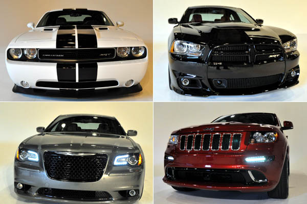 ... Charger SRT8, Chrysler 300 SRT8 y la Jeep Grand Cherokee SRT8 2012