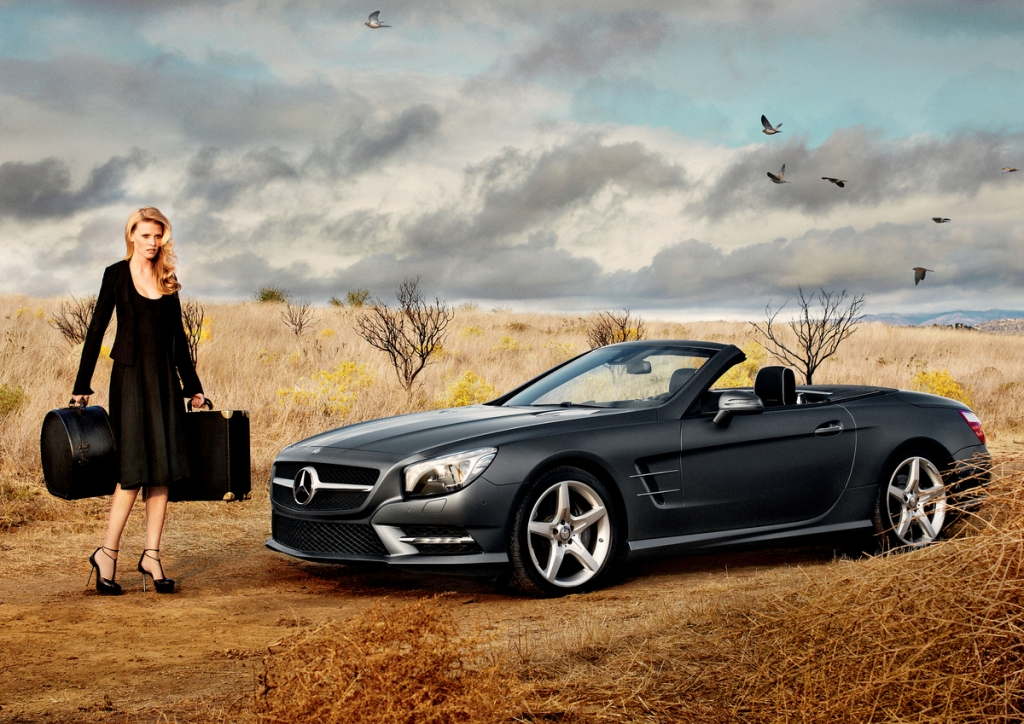 Mercedes-Benz Features New SL Roadster and Supermodel Lara Stone