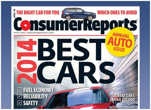 Consumer Reports Top Picks 2014